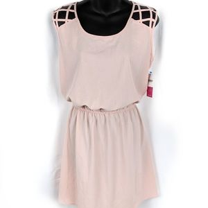 NWT JustFab dusty pink sheer sleeveless dress*